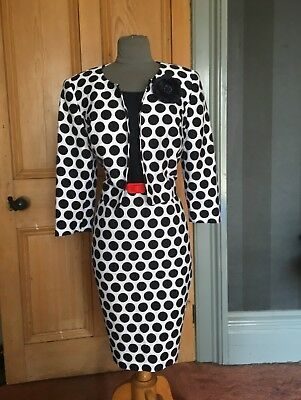 Gorgoeus Precis Petite Mother Of The Bride/evening Dress & Jacket, Size 14