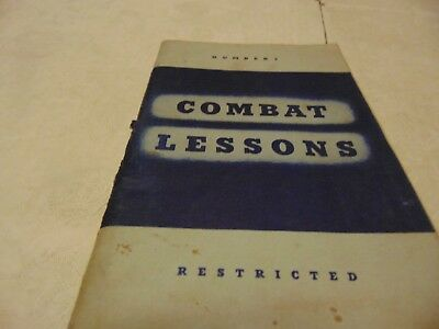 Book Combat Lessons. # 2 1942 Rank And File In Combat