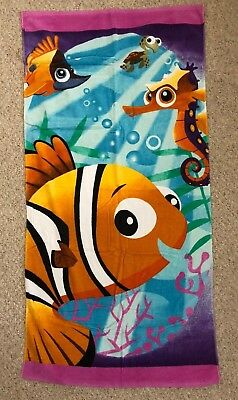 "Nemo Finding Nemo Beach Towel Disney 30"" x 60"" - BRAND NEW IN PACKAGE Nemo, Dory"