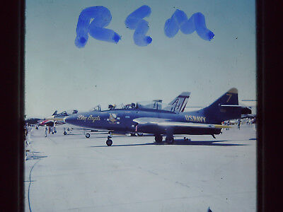 Original Slide,US Navy Blue Angels Jet Aircraft 35MM S-17 1968 Nellis AFB