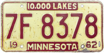 1962 1963 WISCONSIN license plate (GIBBY GOOD)