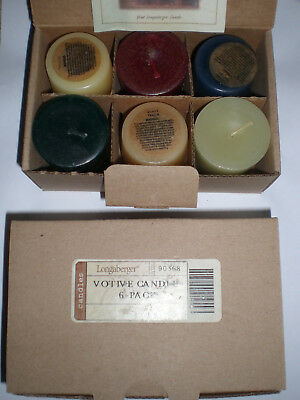 2 Boxes of 6 ea Longaberger Votive Candles All Core 6 different scents in ea box