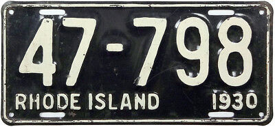 1930 RHODE ISLAND license plate (GIBBY REPAINTED)