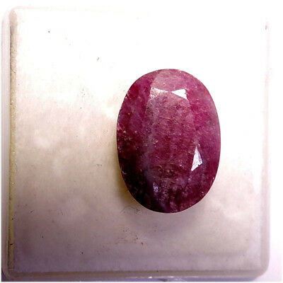 7.60Carat 100% Natural Ruby Zoisite Anyolite Oval Faceted Cut Loose Gemstone