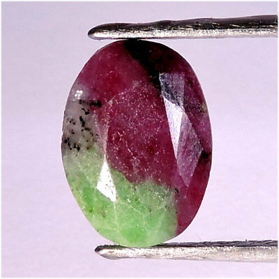 6.50CT. Natural Ruby Zoisite Anyolite Oval Faceted Cut Loose Gemstone 10X14X04
