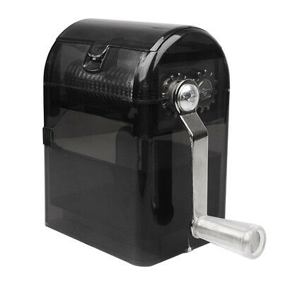 Hand Crank Crusher Tobacco Cutter Grinder Hand Muller Shredder Smoking Case Blac