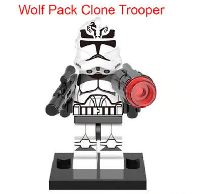 Mini Figurine NEW Fits  Star Wars Wolf Pack Clonetrooper