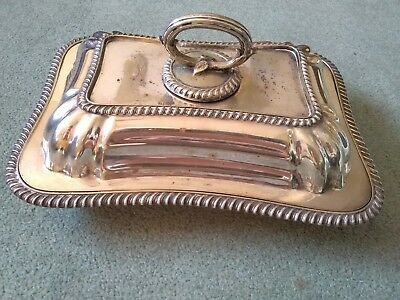 Antique Silver Plated Entree Dish