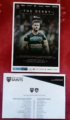 THE DERBY in aid of Rob Horne Northampton v Leicester 06/10/2018 Match Programme