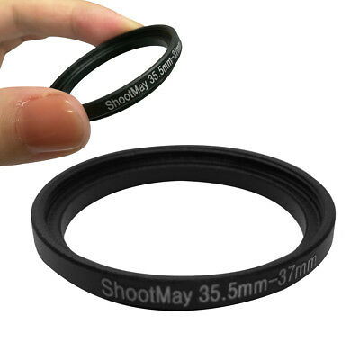 Step Up Lens Filter Metal Ring Adapter 35.5mm to 37mm 35.5-37 Black For DSLR Cam