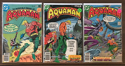 Aquaman 3 issue Bronze Age lot 58,62,63 VF- DC Comics 1977-1978 Origin Retold