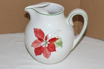 Block Bernarda Poinsettia Pitcher Excellent Pre-owned Condition