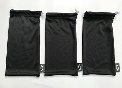 Oakley Pouch Cleaning Cloth Soft Storage Large Size Black 3 Bags