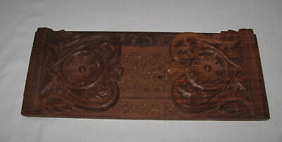 Vintage Adjustable Carved Wood Book Stand/holder