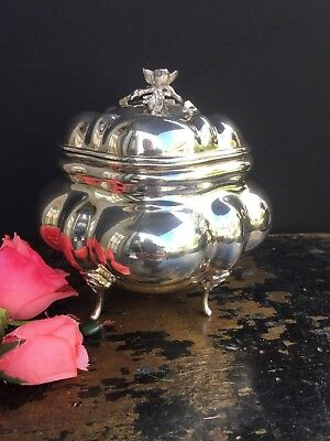 Antique Vintage Sterling Silver Tea Caddy Box