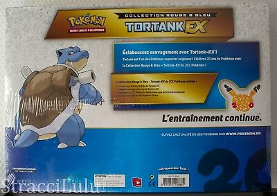Pokémon : Coffret Tortank Ex Collection rouge et bleu 2016 FR NEUF