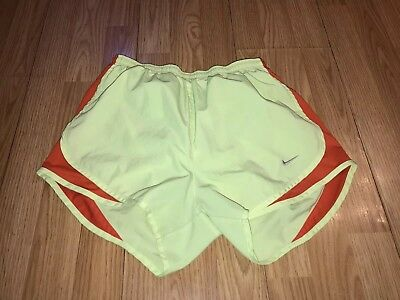 Nike Dri Fit Tempo Running Track XC Athletic Shorts Women's Small Light Yellow S
