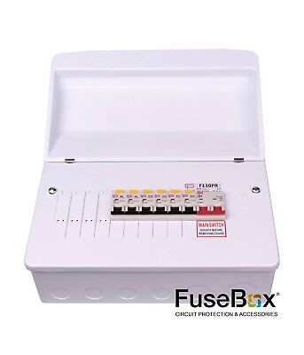 F1010M Fusebox 10W Consumer Unit and 6 RCBO's Amendment 3 Compliant