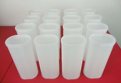 16 OPAQUE Crystal Light Storage Containers Crafts Supplies Garage School Sewing