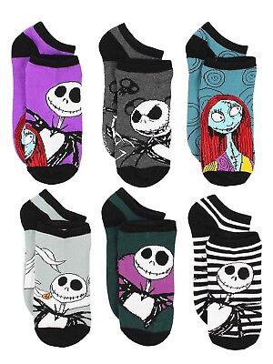 The Nightmare Before Christmas Womens 6 pack Socks NB047XNS