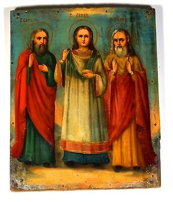 RUSSIAN ICON ANTIQUE ORIGINAL 19th XIX CENTURY ORTHODOX ANTIQUE OLD RARE