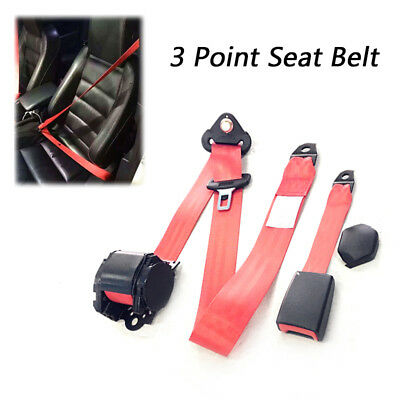 Universal Adjustable Retractable Car Seat Belt Lap Diagonal Belt 3 Point Safety