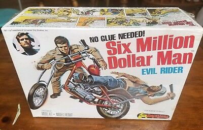 Six Million Dollar Man EVIL RIDER Model Motorcycle Kit NEW In Sealed Box