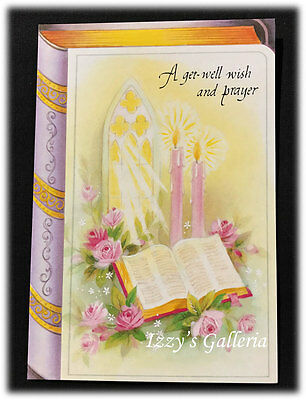 Vintage Olympia Bible A Get Well Wish And Prayer Religious Scripture Card