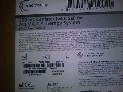 KCI 300mL Canisters (with GEL) dor VAC THERAPY M8275058/10 boxes /5 per box