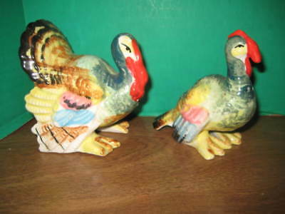 Vintage Thanksgiving Turkey Salt And Pepper Shakers  Cork Stoppers