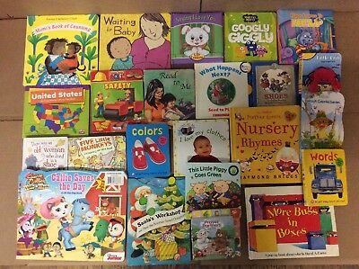 Lot of 22 Board Toddler Hardcover Picture DayCare Kid Child Books - UNSORTED K39