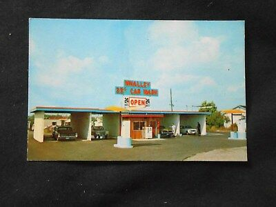 Vintage 1960's Business Card - Whalley Car Wash - British Columbia