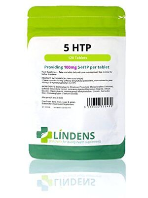 Lindens 5 HTP 100mg Tablets  120 Pack  102.5mg Griffonia Simplicifolia Extract
