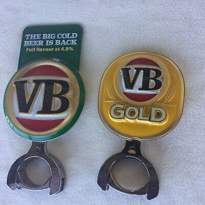 V B & V B GOLD  Metal Beer Tap Top Badge  In GREAT Condition.