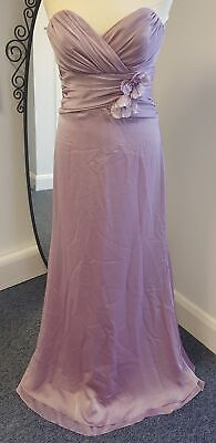 Alvina Valenta Maids new york Chiffon lavender long BRIDAL dress NEW #141