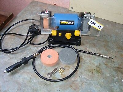 Workzone Miniature bench grinder by Lidl.