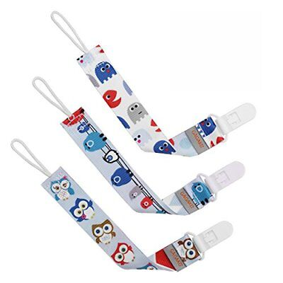 GAGAKU 3 PCS Dummy Clips Pacifier Holder for Girls and Boys - Blue