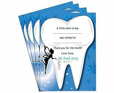 Childrens Tooth Fairy Certificates Set of 4
