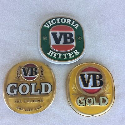 V B X 3 Beer Tap Top Metal Badge In Great Condition
