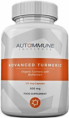 Organic Turmeric Capsules High Strength Supplement with Black Pepper Extract Bi