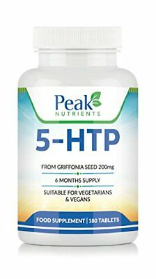 High Strength 5-HTP 200mg, 180 Tablets 6 Months Supply, Suitable For Vegetar