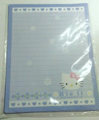 Hello Kitty Blue Stationery Memo Sheet 7 Pieces Sanrio Letter
