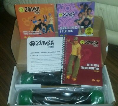 Zumba Fitness Pack 2 Toning Sticks and Sealed DVD Set (Body Transformation)