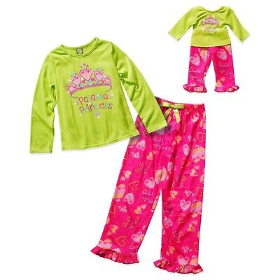 6753f3cef5 Dollie Me Girl 14 and Doll Matching Princess Pajama Set Outfit ft American  Girl