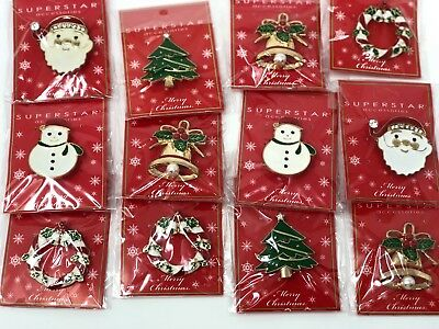 wholesale Lot of 12 pcs pretty Vintage Brooches/pin for Christmas .