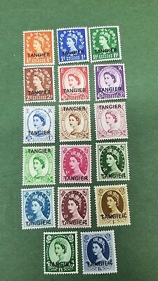 1952 Great Britain Offices Aboard-Morocco Postage Sc#559-575(17) unused Og mint