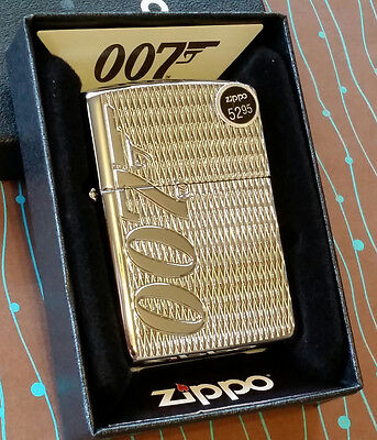Zippo 29550 Armor James Bond 007 NEW in box Windproof Lighter Free Shipping
