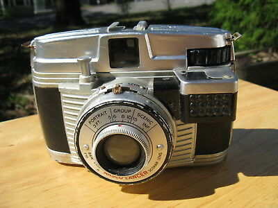 German Ansco Lancer LG Cast Metal Camera with Uncoupled Japanese Meter (AS IS)