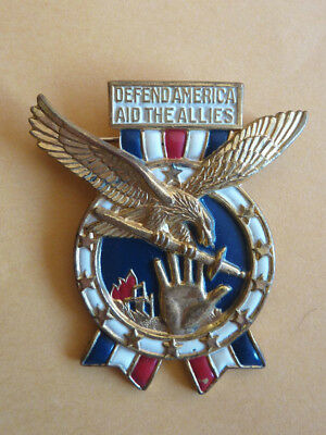WWII Defend America Aid the Allies Patriotic Pin