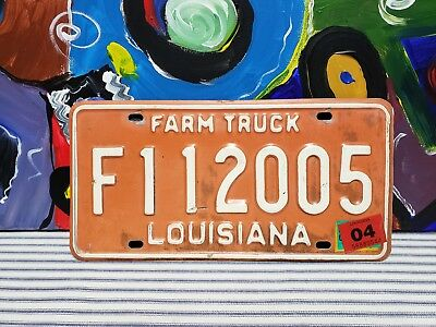 Vintage Farm Truck Louisiana License Plate Vanity Tag Sign Ford Chevrolet GMC 🤠
